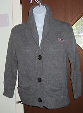 Hollister Sweater Knitted Buttoned Women Sz S Gray in Good Cond!