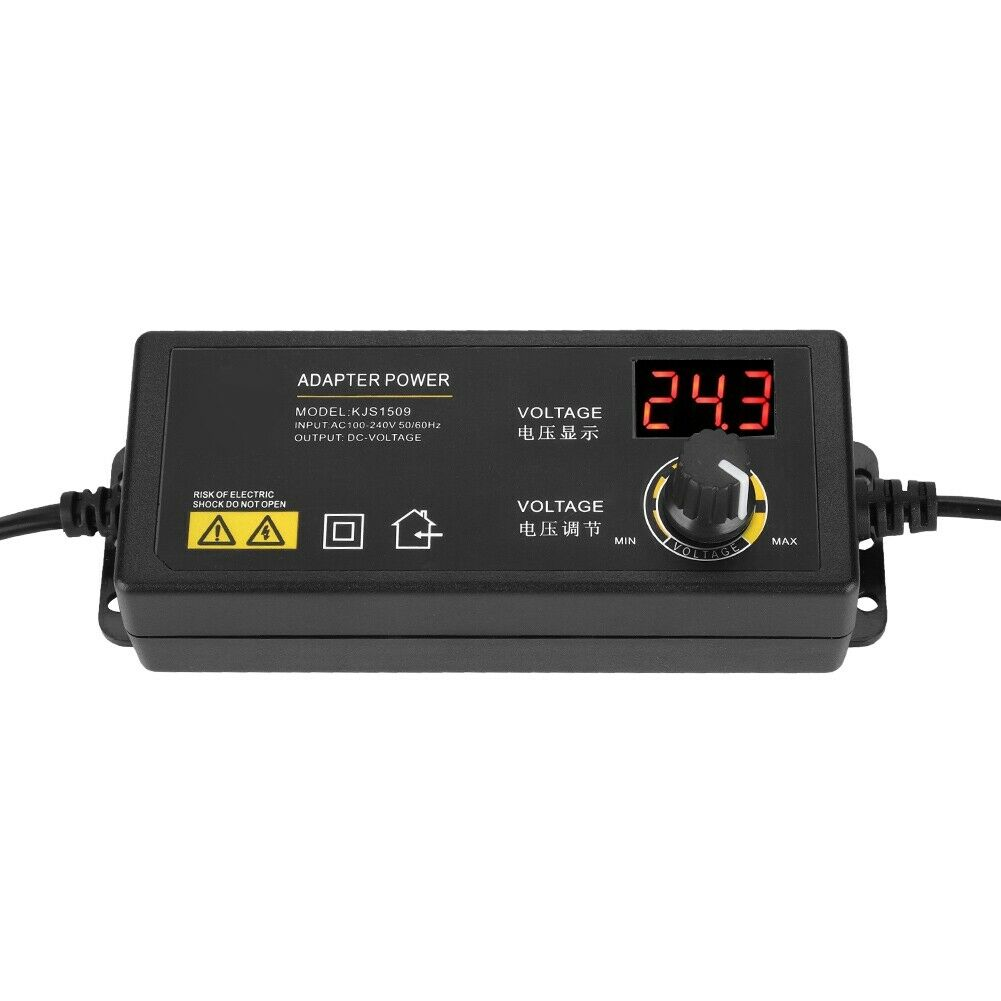 AC//DC Adjustable Power Adapter Supply 3-36V 60W Speed Control LED Display US