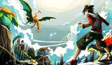 Pokemon GO Ash Charizard Venusaur Pikachu Typhlosion Custom Playmat/Mouse Pad #1