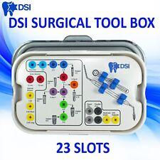 Dsi Dental Implant Abutment Universal Surgical Drills Instrument Box For 23 Slot