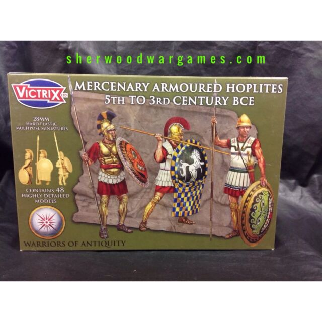 28mm Mercenary Armoured Hoplites By Victrix, Hail Caesar, Swordpoint Ancients