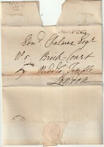 1791-SEP-28-MARKET-DEEPING-RARE-LINCOLNSHIRE-PMK-WRAPPER-TO-EDM-CHALMER-LONDON