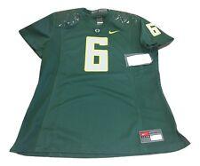 NWT NEW Oregon Ducks Nike #6 Womens Game Replica Green Football Jersey Medium