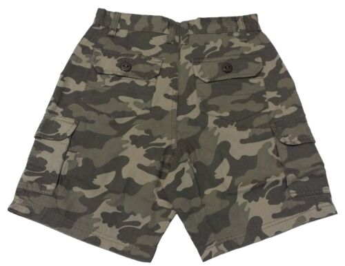 Boys Tom Franks Summer Camo Print Cotton Cargo Trousers Shorts Pants