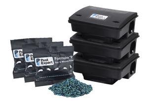 Rat Bait Box Poison Killer Kit (Large Infestation) Pest Expert
