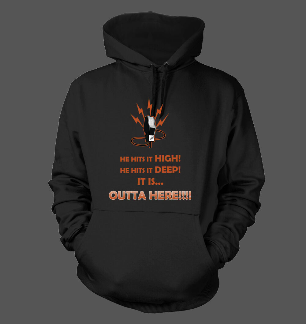 OUTTA HERE   Hoodie - San Francisco Giants Baseball Kuiper Home Run Call Krukow