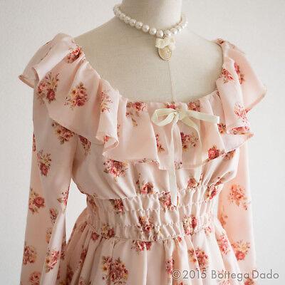 LIZ LISA Floral Rabatine Off-shoulder Dress Hime Gyaru Lolita C669