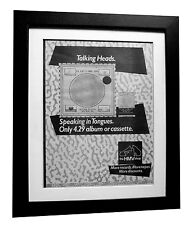 TALKING HEADS+Speaking Tongues+POSTER+AD+ORIGINAL 1983+FRAMED+FAST GLOBAL SHIP