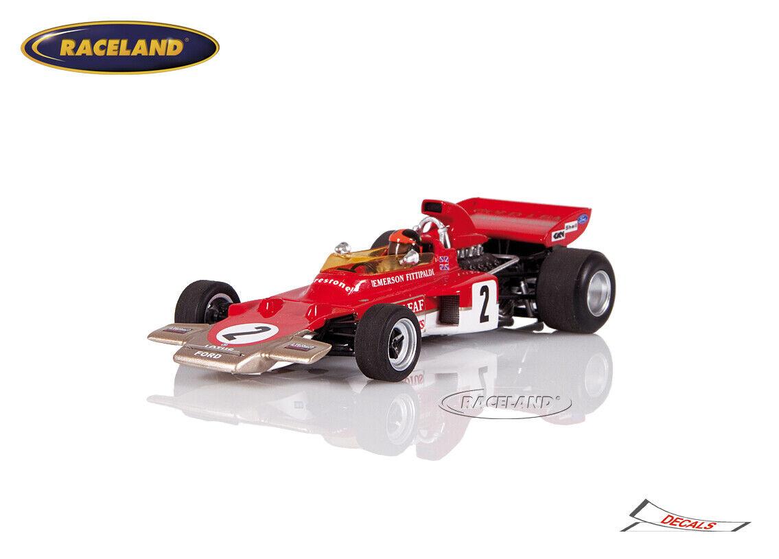 Lotus 72d Cosworth f1 or Leaf GP Autriche 1971 Emerson Fittipaldi Spark 1 43