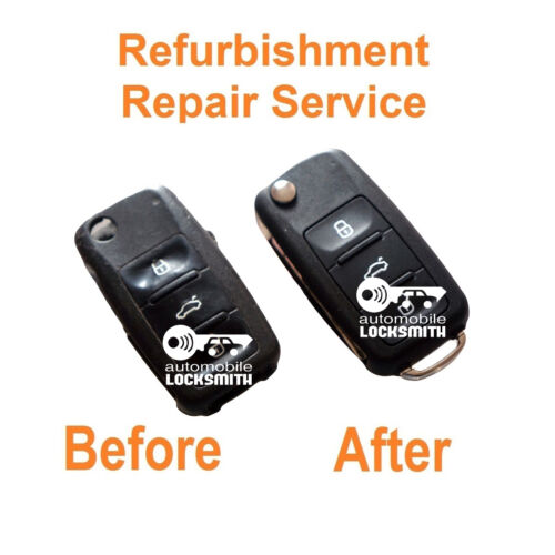 Repair Service for Skoda Octavia Fabia Roomster 3 button remote flip key fob