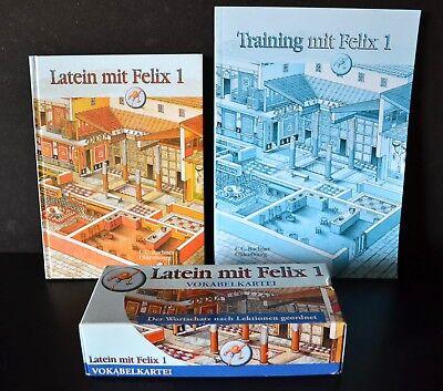 100% QualitäT 3 Set Latein Mit Felix 1 Buch + Training Mit Felix 1 + Vokabelkartei Uvp 61€ Neu
