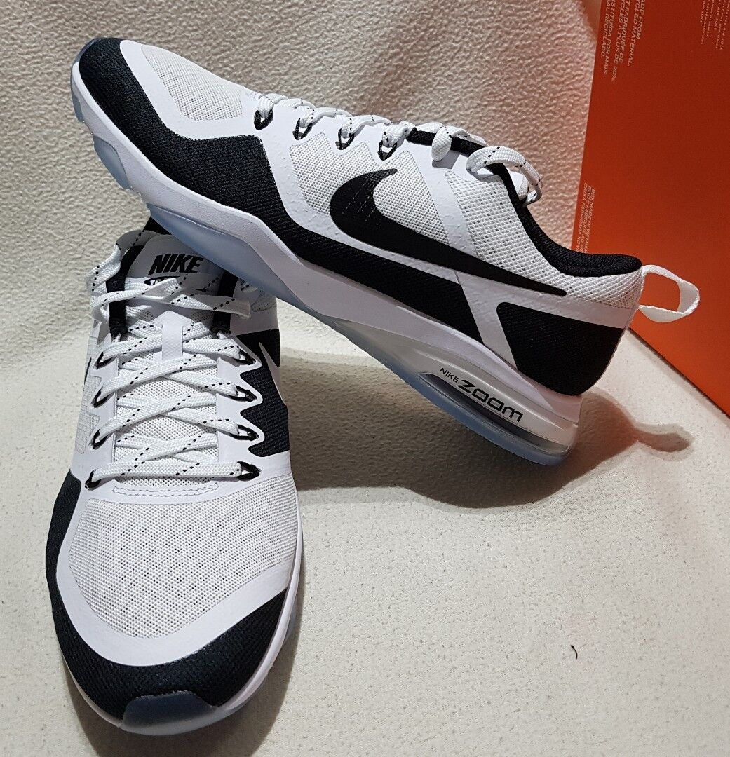 NIKE WOMEN'S AIR ZOOM FITNESS TRAINERS SNEAKERS WEISS/BLACK  904645 100
