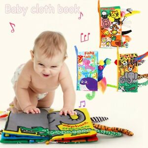 Au-Stock-Soft-Baby-Cloth-Book-Early-Learning-Education-Animals-Book-Infant-Toys