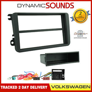 VW-Passat-Polo-Touran-Golf-MK5-MKV-Estereo-Kit-De-Montaje-Fascia-Facia-Adaptador-de-placa
