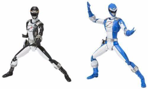 S.H.Figurines  Go Sentai Boukenger Bouken Noir & Bleu Set Figurine Articulée  achats en ligne et magasin de mode
