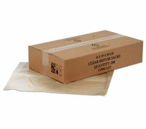 "140 Gauge Strong Clear Rubbish Bin Bags Refuse Sacks Medium Duty 18""x29""x39"""