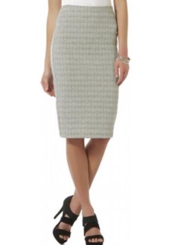 NEW Juniors Bongo Tabby Grey Heather Textured Zipper Back Knit Pencil Skirt S L