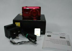 Nikon-COOLPIX-A300-20-1MP-Digital-Camera-RED