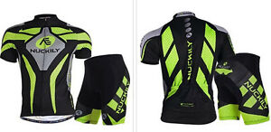 Mens-Jersey-Shorts-Padded-Sports-Short-Sleeve-Suit-Bike-Cycling-Racing-Suit-Hot
