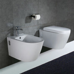 homelody wc wand mit softclosing wc sitz bidet wandbidet keramik wand h nge set ebay. Black Bedroom Furniture Sets. Home Design Ideas