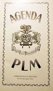 SNCF-PLM-PARIS-LYON-MEDITERRANEE-AGENDA-1923
