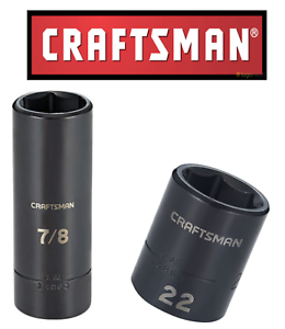 USA Choose Craftsman 6 Point Deep Length 1//4 in Drive SAE /& MM Sockets