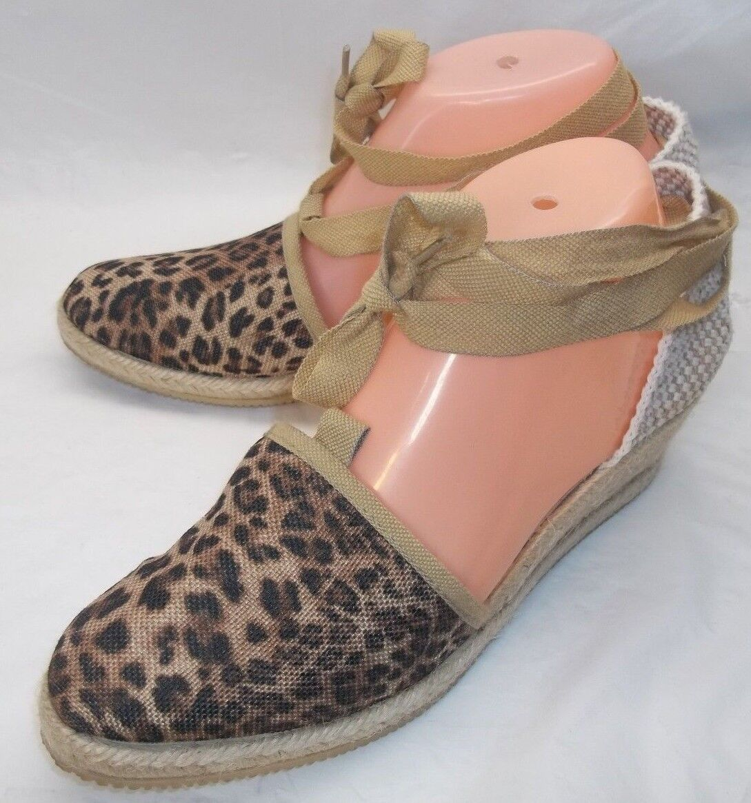 ILSE Jacobsen Hornbaek Wos schuhe Dorsay US 8 Multi-Farbe Cheetah Lace esparilles