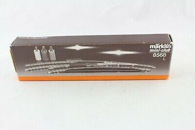 8568 Elettr. Arco Morbido Sinistra L 195 Mm Märklin Mini-club Traccia Z Ovp + Top +-mostra Il Titolo Originale