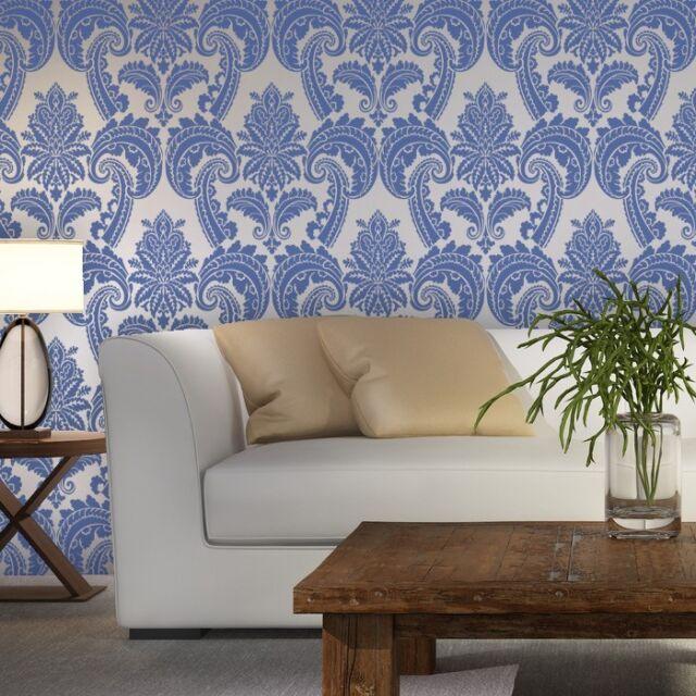 Wall Stencils Damask Stencil Mireille Allover Wallpaper Pattern for DIY decor