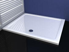 1700x800x40mm Slimline Shower Enclosure Rectangle Stone Tray
