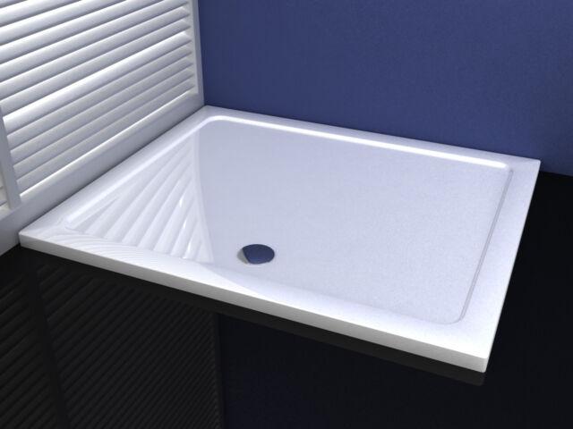 1400x760x30mm Slimline Shower Enclosure Rectangle Stone Tray
