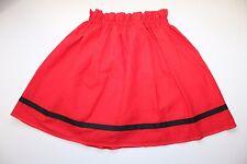 Vêtement pour enfant, déguisement vintage, Jupe rouge de petite fille