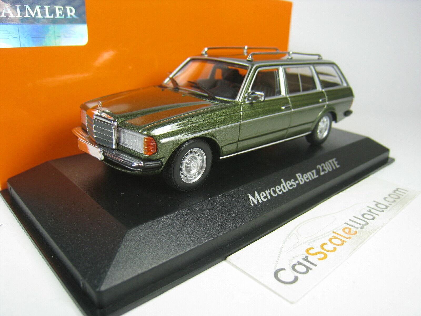 Minichamps 1:43 Mercedes Benz 230TE - 1982 W123 verde metálico