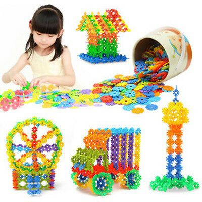 128Pcs Multicolor Snowflake Creative Building Blocks Kid Baby Educational Toys