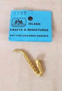 musical instrument 1//12 scale cast metal dollhouse miniature ISL2465 BUGLE