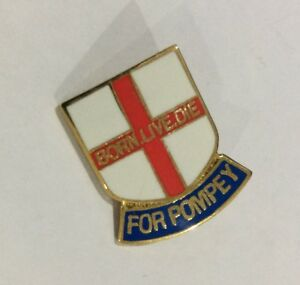 PORTSMOUTH FC BADGE PIN CHECKATRADE TROPHY FINAL WINNERS POMPEY FOOTBALL CLUB