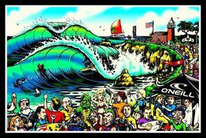 """snowboard. New Surfing decal 4 surfer skateboard 5/"""" Surf City vinyl sticker"""