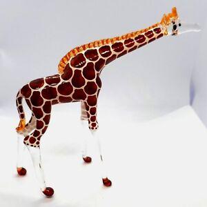 Figurine Miniature Blown Glass Giraffe Animal Collectibles Lampwork Poison