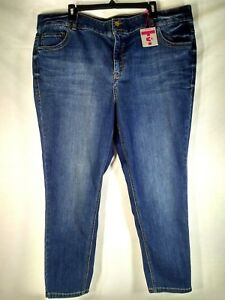Lane-Bryant-Straight-Fit-Skinny-Tighter-Tummy-Womens-Jeans-Size-24-Short-NWT