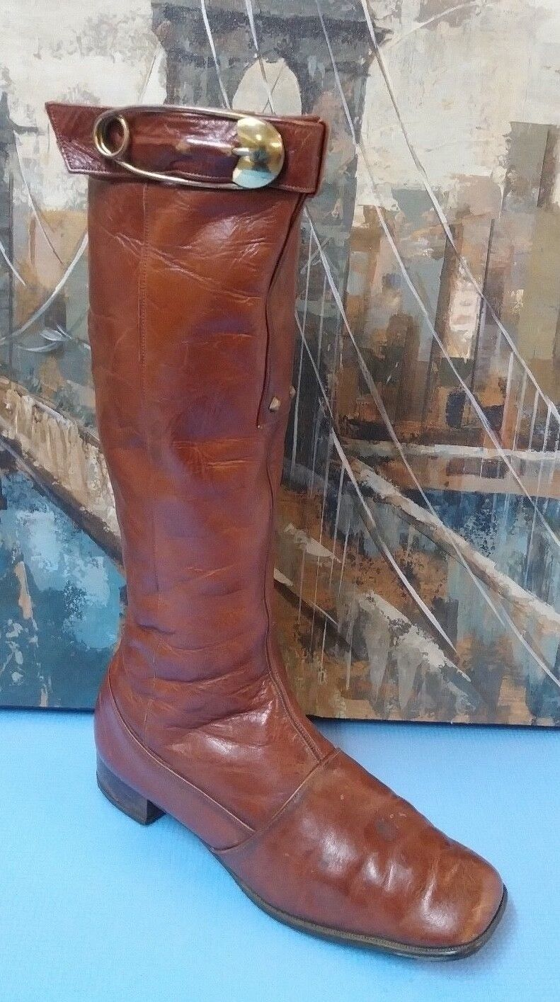 SEIBERLING braun Leather Fashion Stiefel damen Größe Größe Größe 9.5 14e73e
