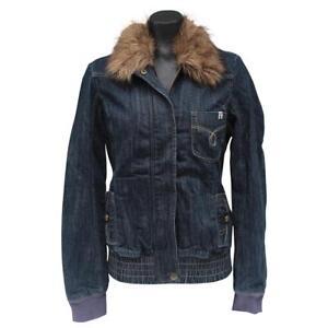 con Airbourne 12 jeans taglia di Roxy Giacca donna collo Quiksilver Blu Jean pelliccia scuro di dxWP8HR