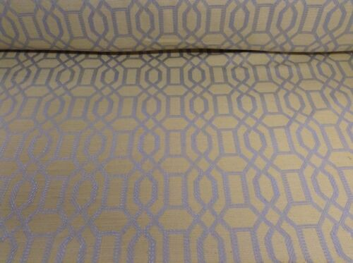 Dalta Nile Linen Yellow //SilverJacquard Curtain// Upholstery Fabric