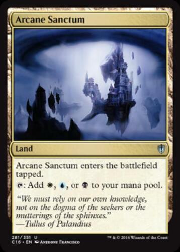 Arcane Sanctum Near Mint Normal English Magic Card Commander 2016 Edition MTG