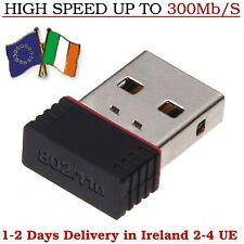 300Mb/s WiFi Dongle Adapter Wireless Network Lan Card Mini USB Windows Pc Laptop