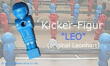 +++ NEU Original Leonhart Kicker Soccer Tischfußball Figur LEO, blau +++