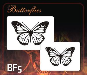 airbrush stencil template BUTTERFLIES BUTTERFLY BF1 BF2 BF3 BF4 BF5 ...