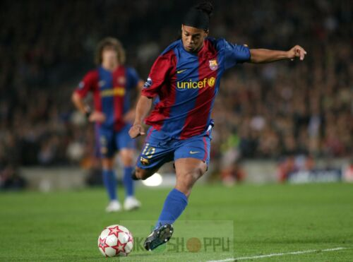 Poster A3 Ronaldinho FC Barcelona La Liga Futbol Football Deporte Sport Decor 01