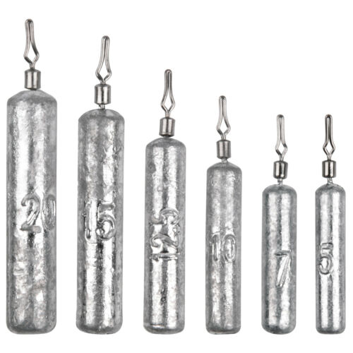 3//16oz-3//4oz Pencil Drop Shot Weights Fishing Sinkers in Various Sizes 5g//20g