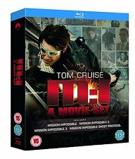 Mission Impossible Quadrilogy Collection 1-4 (Blu-ray, 4 Discs, Region Free) NEW