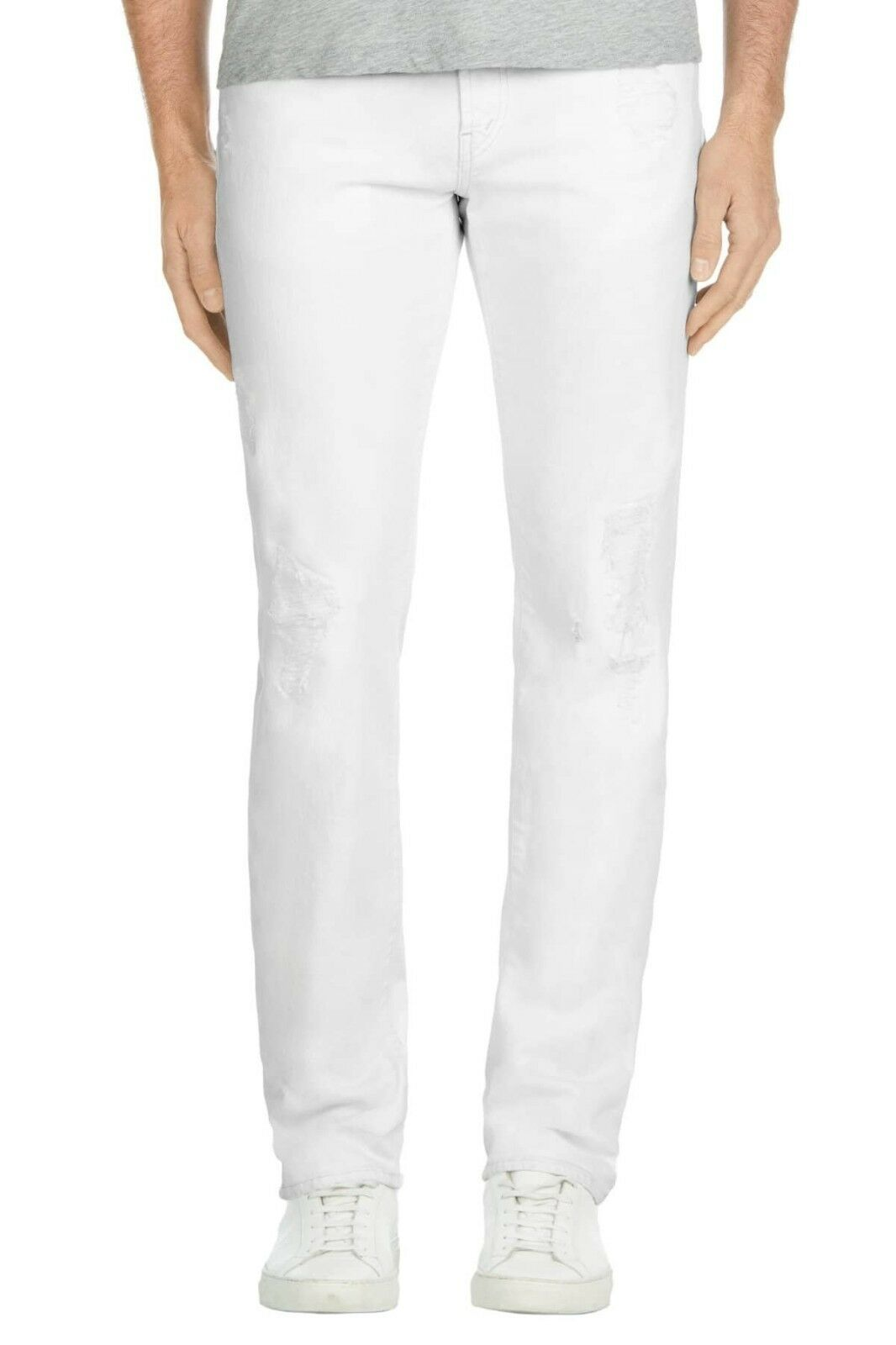 J BRAND MENS TYLER SLIM FIT JEANS IN WHITE SOLACE SIZE 33